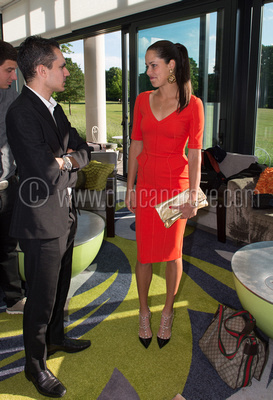 Ana Inanovic at the Cannizaro Hotel during Duncan's exhibition.