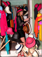 Hat Lady, St Tropez.