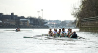 Oxford & Cambridge Universities Boat Race 2012.  Tideway Week - practice outing.