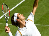 """The Greatest Player Ever"", Federer, Centre Court, Wimbledon."