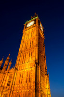 Big Ben, Houses of Parliament, London, England, United Kingdom at dusk.