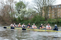 03.04.2014.  Tideway Week. OUBC Blue boat Practice Outing in preparation for the Oxford & Cambridge Universities Boat Race 2014.