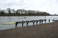 22.02.2015.  Oxford University Women's Boat Club (OUWBC) vs Molesey Boat Club (MBC) - Pre Boat Race practice fixture.