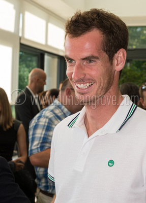 Andy Murray at the Cannizaro Hotel during Duncan's exhibition.