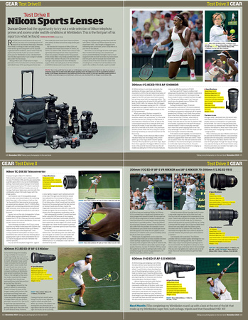Nikon review article Part 1 Photo Pro November 2010.