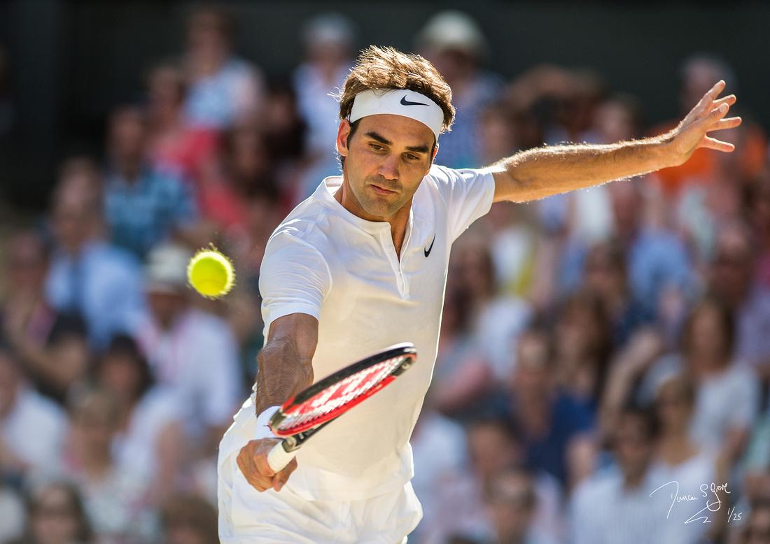 Roger federer, Wimbledon Tennis 10.07.2015.