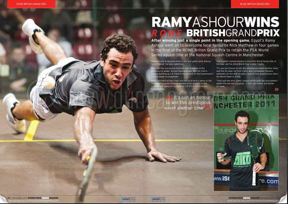 International Squash Magazine Dec 2011 - click to view free digital edition.