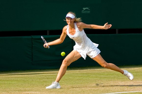 """The Former Champion Returns"". Maria Sharapova, Centre Court, Wimbledon 2006."