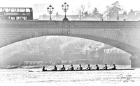 OUBC Isis crew below Putney Bridge 10 April 2015