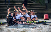 Oxford University Women's Boat Club - winners of the first women's race to be held on the traditional men's course 11.04.2015.