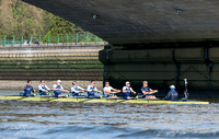 05.04.2014.  Tideway Week. OUBC Blue boat Practice Outing in preparation for the Oxford & Cambridge Universities Boat Race 2014.