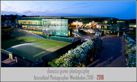 No 1 Court at Dusk.  Wimbledon 2012.