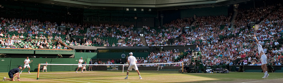 Men's Doubles, Centre Court with new roof, Wimbledon 2009 #3.