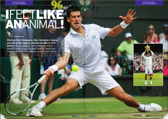 International Tennis Magazine - Sep 2011. Click for larger size.